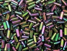 30g x Approx 6mm Size Glass Bugle Tube Beads Jewellery Beading ** PICK COLOUR ML