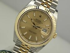 Rolex DATEJUST II 126333 Steel & Yellow Gold Jubilee Bracelet Champagne 41MM