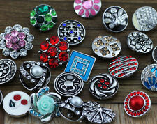 100pcs hot mix style Snaps Chunk Charm Button for leather Bracelets j358
