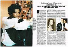 Coupure de presse Clipping 1994 (3 pages) Khadija ,la princesse de ratzenberger