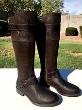 UGG Australia Dayle Motorcycle Riding Boots Sz 8 Brushed Lodge Leather NEW $295
