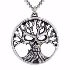 ALCHEMY TREE OF DEATH SKULL PENDANT GOTHIC PEWTER HORROR MACABRE +FREE GIFT BOX