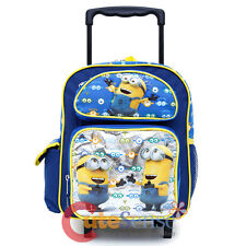 "Despicable Me Minions School Roller Backpack 12"" Small Wheeled Rolling Bag -Eyes"