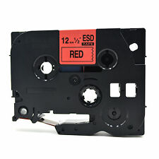 Compatible Label Tape TZ431 Tze431 12mm x 8m for Brother P-Touch Black On Red
