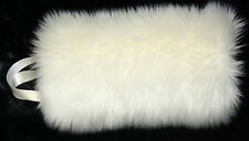 "IVORY FLUFFY FAUX  FUR "" CHILD "" HAND WARMER MUFF PERFECT FOR BRIDAL WEDDING NWT"