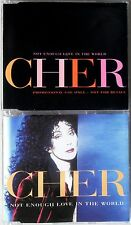 CHER * NOT ENOUGH LOVE... * UK PROMO & CD SINGLE SET * HTF! * IT'S A MAN'S WORLD