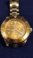 Invicta 13860 Grand Diver Automatic ARMY Green Dial Bracelet Watch preowned