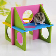 Pet Mouse Rat Wooden Hamster Funny Fun Gym Playground Exercise Safe Toy Colorful