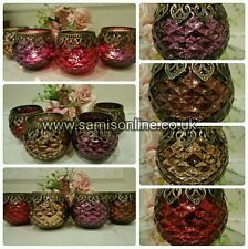 Arabian/Moroccan Eid Ramadan Large Tea Light Candle Holders Bowls Vintage Ornate