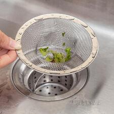 New Home Kitchen Sink Drain Strainer Stainless Steel Mesh Basket Strainer Filter