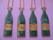 12ct, Wine Bottle Ornaments, Christmas Tree, Gift Wrap accent, party favor, tags