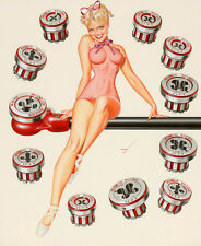 "Vintage Pin Up Rigid Tool Illustration 1956 11 x 14""  Photo Print"