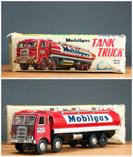 #Antique Tin Toy# Hayashi Marusan Oil  Exxon Mobil Truck J  Japan Japanese Boxed