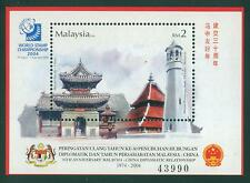 [JSC] 30th Anniversary Malaysia -China Diplomatic 2004 (miniature sheet) MNH
