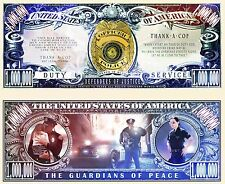 Policeman Thank you for your service Novelty Dollar with Protector & free ship