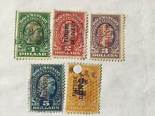 USA $1, $2,$3, $5 ,$10 Overprints Future Delivery Old Stamps