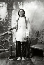 Sitting Bull Poster, Native American Indian, Holy Man, Tribal Chief, Lakota