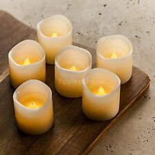 "Hayley Cherie® - LED Wax Candles with Timer (Set of 6) - Flameless 2"" x 2"" Ivor"