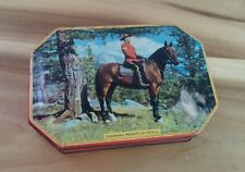 vintage Rileys Toffee tin Canadian Mountie Patrol Police on Horse