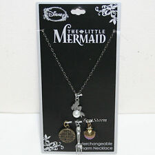 Disney The Little Mermaid ARIEL Interchangeable Multi Charm Pendant Necklace Set