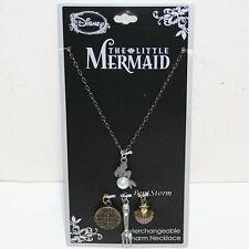 Disney The Little Mermaid ARIEL Interchangeable Multi Charm Pendant Necklace Set