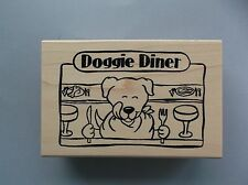 PEDDLER'S PACK RUBBER STAMPS DOGGIE DINER NEW STAMP
