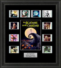THE NIGHTMARE BEFORE CHRISTMAS MOUNTED FRAMED 35MM FILM CELL MEMORABILIA V3