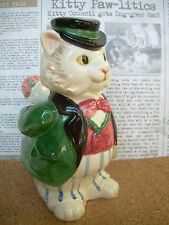FITZ & FLOYD 1988 CAT VASE FIGURINE~KITTENS OF KNIGHTSBRIDGE~MINT
