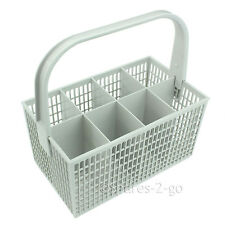 8 Compartment White Cutlery Basket Cage for Bosch Dishwasher 237 x 137mm