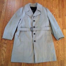 LONDON FOG MAIN COATS: Vtg Mens Khaki Trench Coat, Zip-out Fleece Lining, 46 Reg
