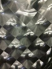 Black 3D Hologram Square Lycra Spandex Super Stretch Fabric Sold By The Yard