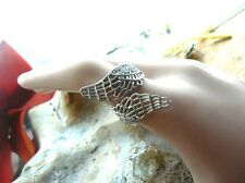 Silver Twisted Angels Wings Crystals inlaid Ring Unusual gift for her Victorian
