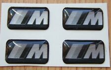 4 BMW Black Silver M Tech Alloy steering Wheel sticker badge M3 MV3 Carbon fibre