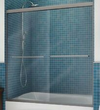 "MAAX® Frameless By-Pass Shower Door Clear Glass 57-3/8H x 55 To 59""W"