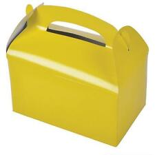 12 YELLOW COLOR TREAT BOXES Birthday Party Loot Goody Bags #ST24 FREE SHIPPING