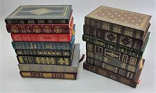 Collection of 15 Never Read FRANKLIN LIBRARY LEATHER BOUND Books of Classics