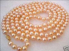"""50"""" Charming 8-9mm Akoya culture pink pearl necklace"""
