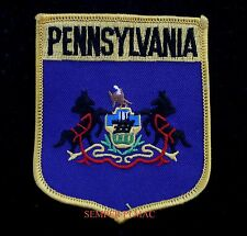 PENNSYLVANIA FLAG EMBROIDERED IRON ON PATCH PA HORSES USA STATE COLONIAL STATE