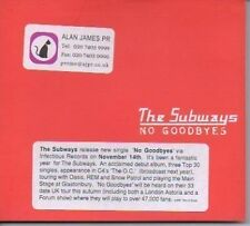 (216H) The Subways, No Goodbyes - 2005 DJ CD