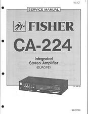 Fisher Original Service Manual für CA- 224