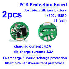 2PCS 1S 3.7V 3A PCB BMS Protection Board for Li-ion Lithium 18650 Battery Cell