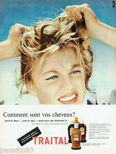 PUBLICITE ADVERTISING 125  1957  TRAITAL  shampoing cheveux gras