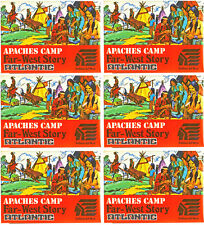 6 Sets 1/72nd Scale Atlantic HO Far-West Story Apache Camp # 1106 - mint boxes