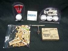 Vintage Golf Lot of Advertising Tees & Balls 2 golf Spike Wrenches