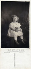 1900's UNIDENTIFIED CURLY TOPPED CHILD UNUSED POSTCARD