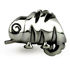 Cute Chameleon Genuine Sterling Silver Solid Charm OHM Bead WHF023
