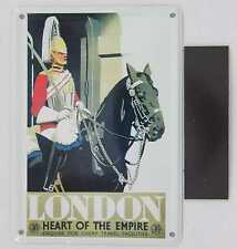 Collectable Tin Card Sign Magnet 3x4 London Heart of the Empire