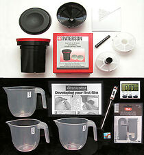 "FILM  DEVELOPING  KIT  FOR 35MM & 120 FILM  ""WITH PATERSON DEV. TANK"""