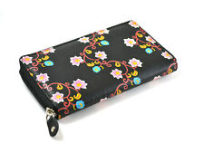 LADIES WALLET GENUINE LEATHER  PRINTED STYLE ZIP AROUND CARD SLOT PURSE CLUTCH