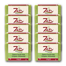 PAPAYA FACIAL SOAP Organic BY ZEN PERSONAL CARE Pack of 10  LIGHTENING SOAP